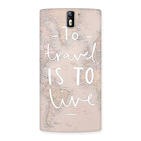 new concept 956fa 1f42b To Travel Design Back Case Cover for OnePlus One: Amazon.in: Electronics