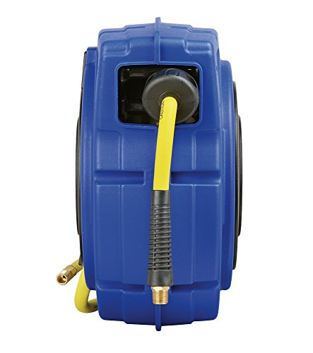 Goodyear 27527153G Enclosed Retractable Air Compressor/Water Hose Reel with 3/8 in. x 50 ft. Hybrid Polymer Hose, Max. 300PSI by Goodyear (Image #1)