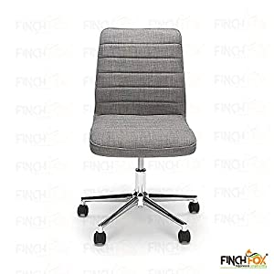 Finch Fox Medium Back Fabric Executive Chair/Conference Chair/House Chair/Desk Chair/Employee/Home Chair/Doctors/Office Chair in (Grey) Color with 1 Year Warranty