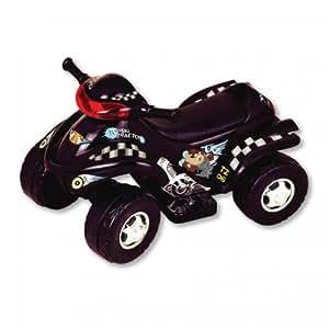 New Star Taz 4x4 Power ATV Ride On with Lights & Sound- Black