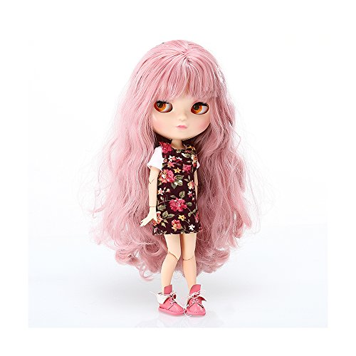 Doll Costume Diy (The 12 Inch Nude Doll is Similar to Blyth BJD Doll, Customized ICY Dolls Can Be Changed Makeup and Dress by DIY, Ball Jointed Dolls Best Gifts and Hobby For Girls (Purple Pink))