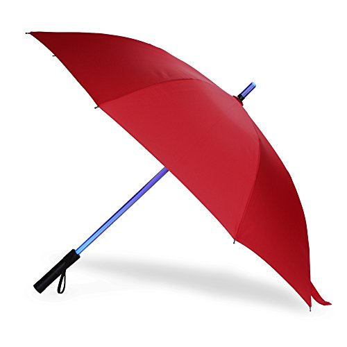 23/'/' Light Up Starry Umbrella LED Flashing Auto Open Long Handle With Torch
