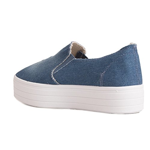 Donna Espadrillas Name Basse Blu No Tgtwn