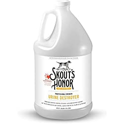 Skout's Honor Professional Strength, All-Natural Dog Urine Destroyer - Non-Toxic, Biodegradable, and Eco-Friendly - Odor Eliminating Technology Destroys Odor Molecules On Contact - 128-Ounce Bottle