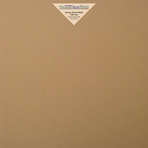 "150 Brown Kraft Fiber 28/70# Text  Paper Sheets - 12"" X 12"""