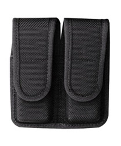 Bianchi Accumold 7302 Black Double Magazine Pouch (Size 1 Stacked Hidden Snap)