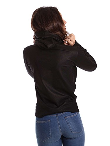 Ct Sweater Nero Donna Fleece Metal Nera Converse Cappuccio L Hood Felpa CEtwnq