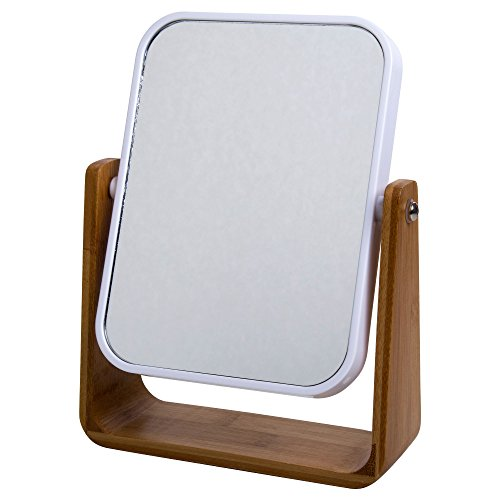 CTG, Countertop Mirror with Bamboo Stand, 8.5 inches, -