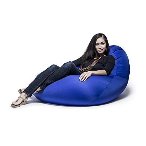 Jaxx Nimbus Spandex Bean Bag Chair for Adults-Furniture for Rec, Family Rooms and More, Large, Royal Blue (Furniture Atlanta Direct)