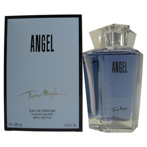 Angel By Thierry Mugler For Women. Eau De Parfum Refill 3.4 Ounces (Vanilla Peony Perfume)