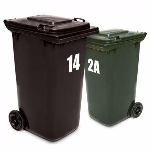 Titans unique design 2X Wheelie Rubbish Garbage Bin Sticker House Number Identification Vinyl Decal