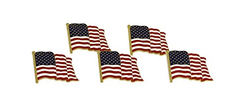 American Flag Lapel Pin Proudly Made in USA (5 Pack)