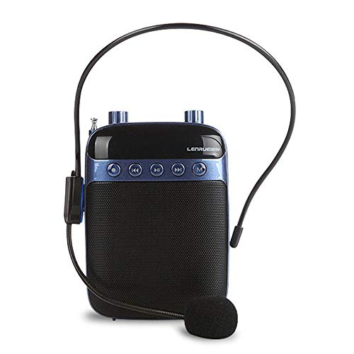 Aolvo Voice Amplifier Portable Voice Waistband Amplifier with Wired Microphone Headset for Teachers Guiders Gym Directors, Coaches, Presentations,and - Waistband Microphone Amplifier