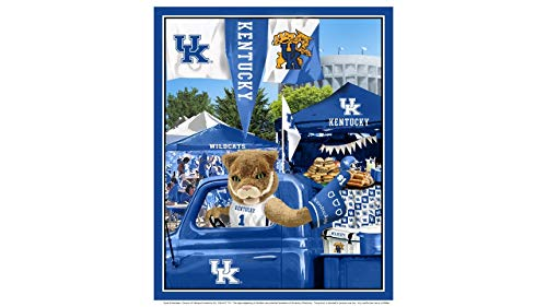 University of Kentucky Cotton Fabric Panel with Tailgate Design-Sold by The Panel