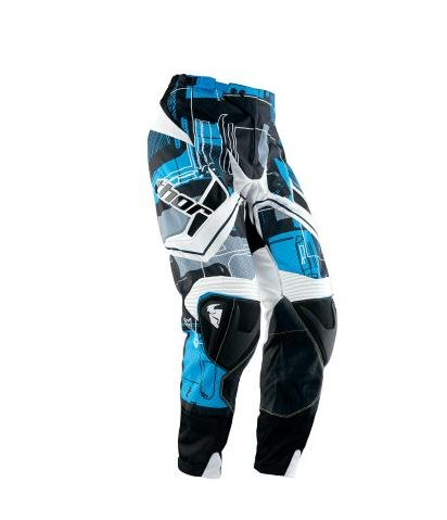 Thor Flux Circuit Pants , Distinct Name: Cyan, Primary Color: Black, Size: 28, Gender: Mens/Unisex 2901-3791 (Thor Riding Pants)