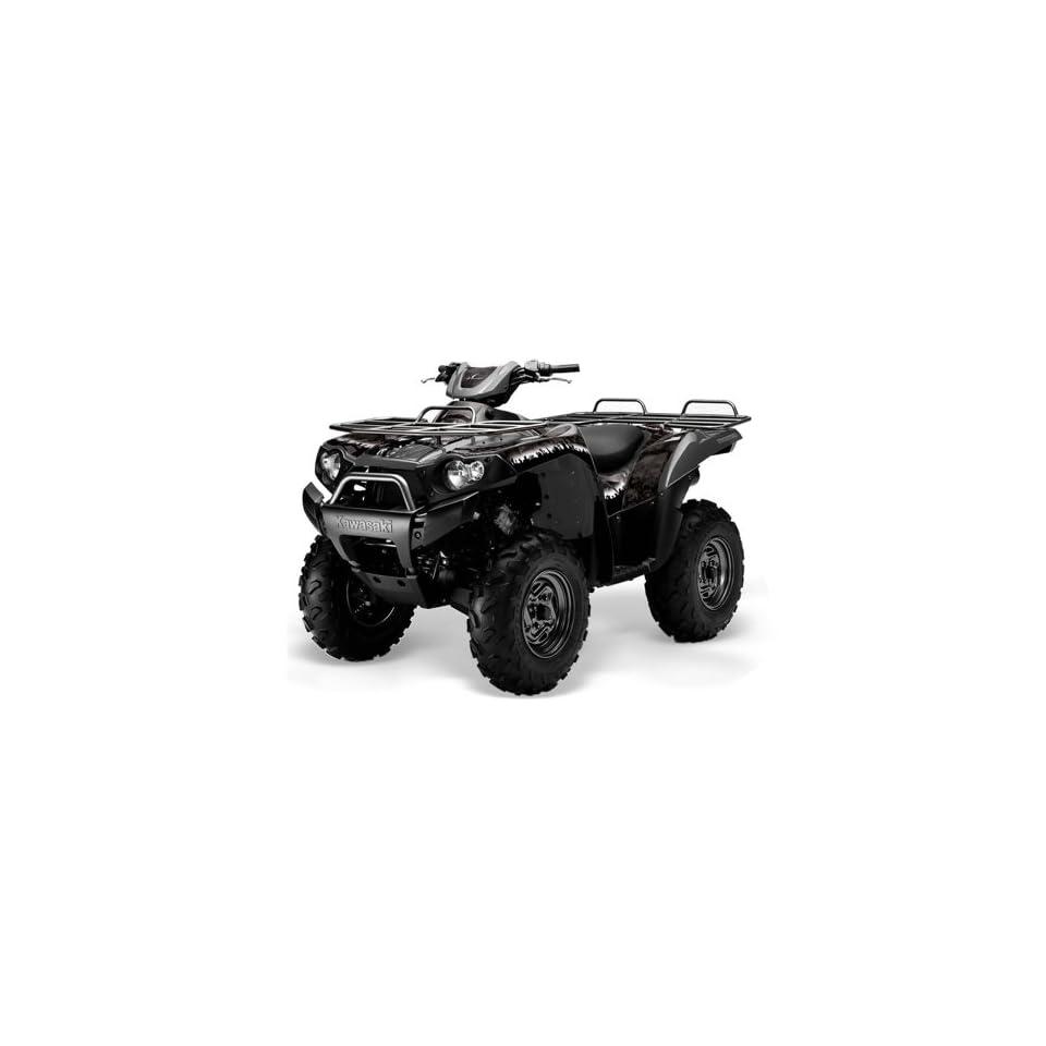 AMR Racing Kawasaki Brute Force 650i 4x4 ATV Quad, Graphic Kit   Reaper Black