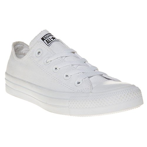 - Converse Unisex Chuck Taylor All Star Ox Low Top Classic White Monochrome Sneakers - 7 B(M) US Women / 5 D(M) US Men