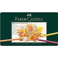 Faber-Castell 辉柏嘉110011 POLYCHROMOS炫彩彩色铅笔, 120支-金属盒装