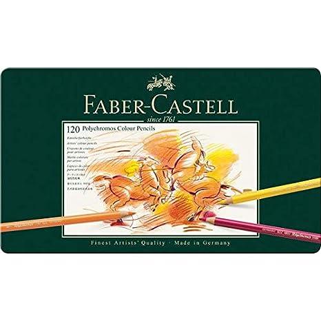 Faber-Castell 110024 Estuche de metal con 24 ecol/ápices polychromos multicolor