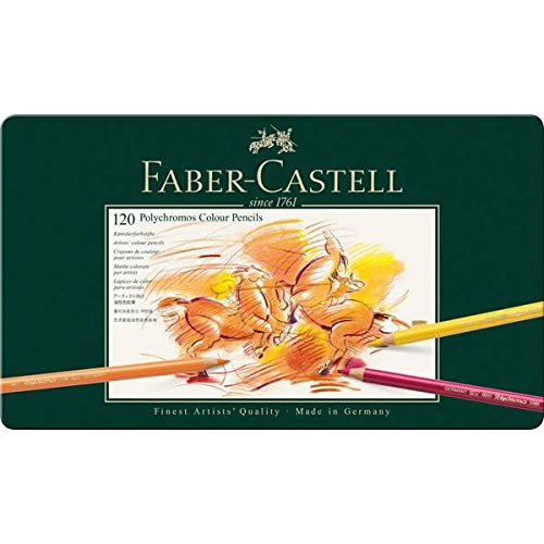 Faber-Castell Polychromos Artists' Color Pencils - Tin of 120 Colors - Premium Quality Artist Pencils by Faber-Castell (Image #3)