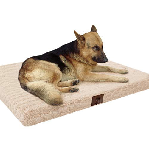 American Kennel Club Orthopedic Crate Mat, 42 by 27, Tan