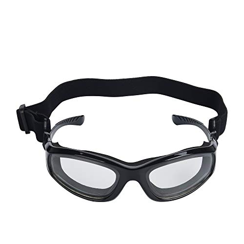 GOLXM Barbecue Goggles Onion Goggles for Grilling BBQ Food - Tears Free Protector - Sports Goggles - Multipurpose Goggles with Adjustable Removable Strap (Black)