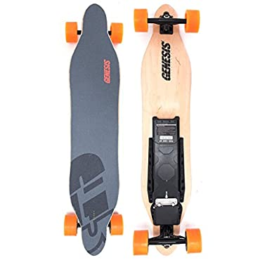 Genesis Tomahawk Electric Skateboard - Orange Wheels