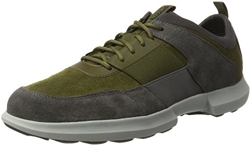 Geox Herren U Traccia B Sneaker Grau (muschio / Antracite)