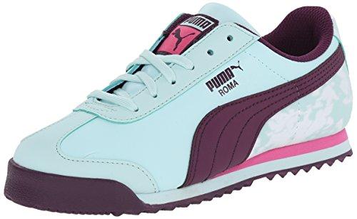 PUMA Roma Basic Blur Kids Sneaker (Toddler/Little Kid/Big Kid) , Fair Aqua/Italian Plum/Carmine Rose, 7 M US Toddler