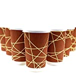(80) PREMIUM GRADE Disposable Coffee Cups with Lids, 16oz, (80) Pack, Insulated Ripple Wall, To Go Paper Cup for Hot & Cold Drinks with Tight Fitting No Drip Lids