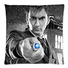 """HOT Selling Doctor Who David Tennant Pillowcase Zippered Pillow Case 18""""x18"""" - Two Sides"""