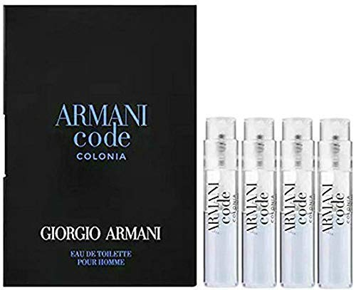 Amazon.com: 4 Giorgio Armani ARMANI CODE COLONIA Eau de Toilette Spray Travel Vials .04 oz / 1.2 ml Each MENS NEW: Beauty