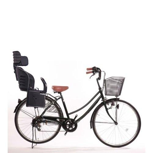 Lupinusルピナス 自転車 26インチ 5☆大好評 LP-266UD-KNRJ-BK 軽快車 正規品送料無料 B073LFSM53 シマノ外装6段ギア ダイナモライト グリーン 樹脂製後子乗せブラック