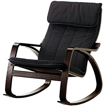 Amazon Com Ikea Poang Rocking Chair Black Brown With