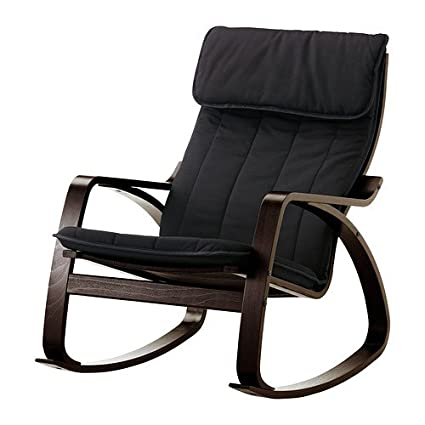 Ikea Poang Rocking Chair Black Brown with Cushion  sc 1 st  Amazon.com & Amazon.com: Ikea Poang Rocking Chair Black Brown with Cushion ...