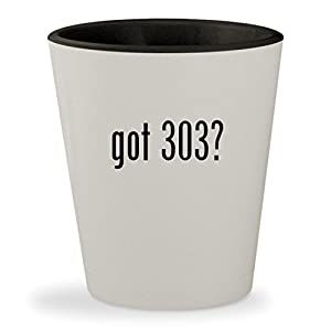 got 303? - White Outer & Black Inner Ceramic 1.5oz Shot Glass