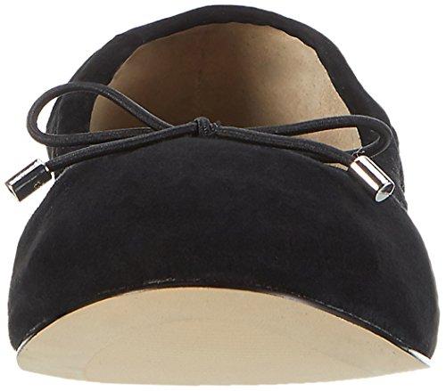 Buffalo London Women's 216-6219 Suede Ballet Flats Black (Black 01) vhyLn7lPwe