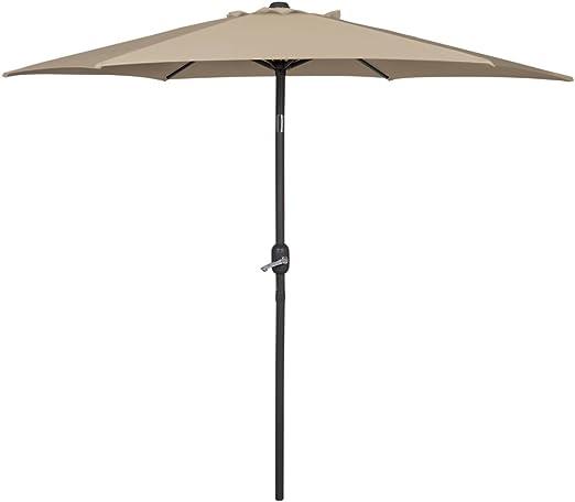 Aktive - Sombrilla para jardín con manivela, diámetro de 240 cm, color beige (53814): Amazon.es: Jardín