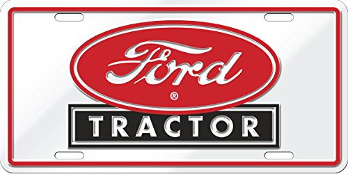 Chroma Graphics 55014 Red Metal Ford Tractor Oval Stamped Tag