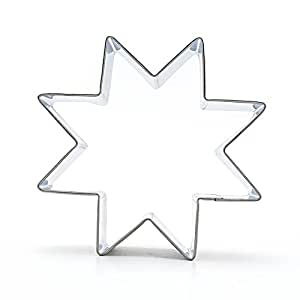 1x Sandwiches Kitchenware Pastry Gingerbread Baking Tool Metal Ausstechform Biscuit Cookie Cutter CC122 8-Pointed Star