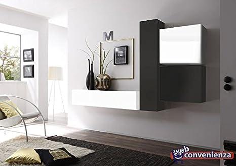 Web Convenienza Cube 3 G Bianco Lucido e Grigio Scuro Opaco Parete ...