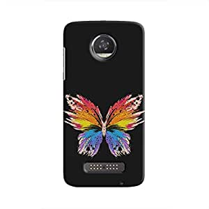 Cover it up Rainbow Butterfly Hard Case for Motorola Moto Z2 Play - Multi Color