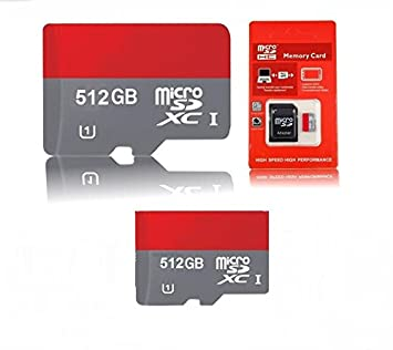 HC Tarjeta Micro SD 512 GB High Speed TF-clase + adaptador ...