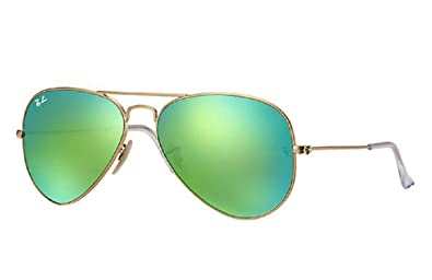 69f6c2cbd5 Image Unavailable. Image not available for. Color  Ray Ban Aviator  Sunglasses RB3025 112-19 Matte Gold Frame