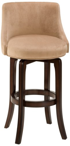 Hillsdale Napa Valley 30 in. Swivel Bar Stool - Khaki Fabric Seat by Hillsdale Furniture