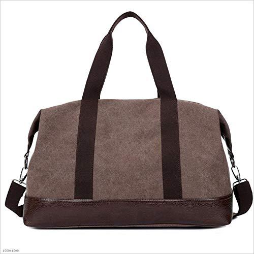 Yangjiaxuan Portable Canvas Travel Bag Shoulder Diagonal Large-Capacity Duffel Bag (Color : Coffee) by Yangjiaxuan (Image #2)