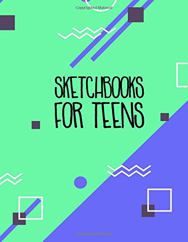 Sketchbooks For Teens: Graph Paper Notebook, 8.5 x 11, 120 Grid Lined Pages (1/4 Inch Squares)