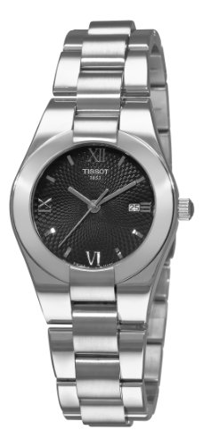 Tissot Women's T0432101105800 T-Trend Glam Sport Black Guilloche Dial (Black Guilloche Dial)