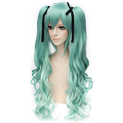 Hatsune Miku Cosplay Costumes With Wig - Anogol® Free Hair Cap + Vocaloid