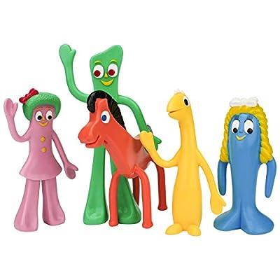 NJ Croce Gumby & Friends Action Figure Boxed Set, Multicolor: Toys & Games